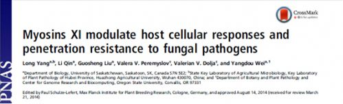 <b>植物抗真菌侵入研究取得重要进展</b>