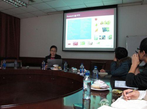 新西兰高级生物信息学家Cecilia Deng来校交流访问