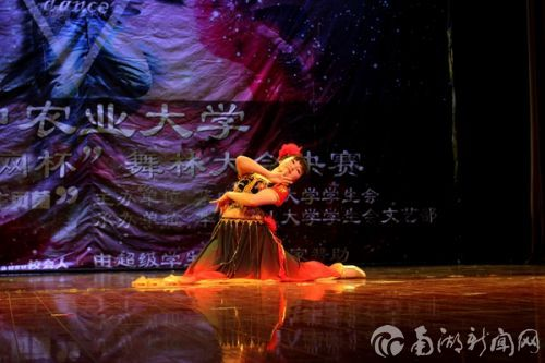 八号李雪妍表演的新疆舞《花儿为什么这样红》充满异域风情。