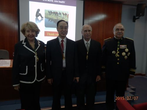 <b>袁宗辉获授西班牙皇家兽医科学院院士证章</b>