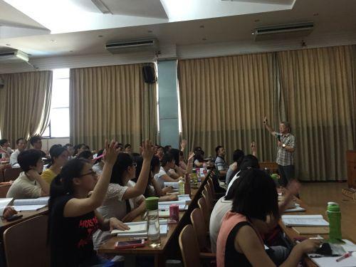 北京大学乔晓春教授与学员互动