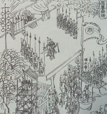 古代军队黑白手绘