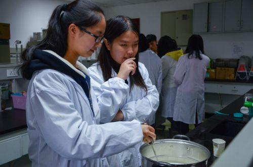同学们认真思考酸奶制作步骤 吕岩