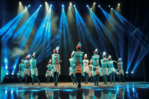 歌舞《白云黄鹤是故乡》来校演出