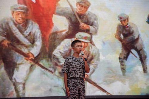 新生讲故事唱红歌纪念长征胜利80周年