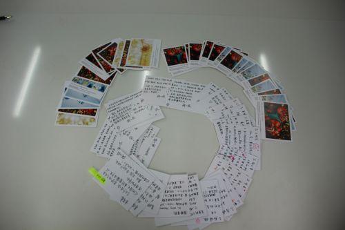 老师和同学们写给考研战友们的卡片