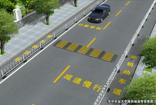 路拱减速带效果图