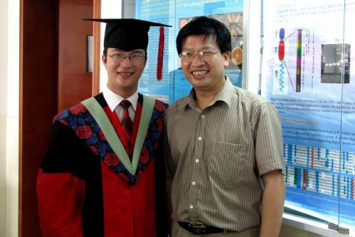 2007年博士毕业和导师合影