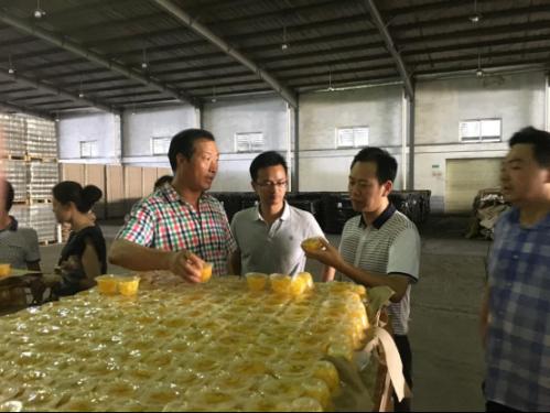 王平祥、杨成才书记参观水果罐头生产基地