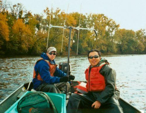 庄平-5在美国进行鱼类无线电跟踪研究