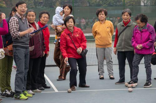 老年远动会现场 学通社记者冯芷阳摄