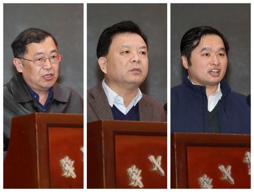 李名家同志、姚江林同志、王从严同志分别宣读表彰决定、主持会议、总结校庆工作