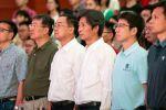 师生收看国庆盛典 共迎新中国70华诞