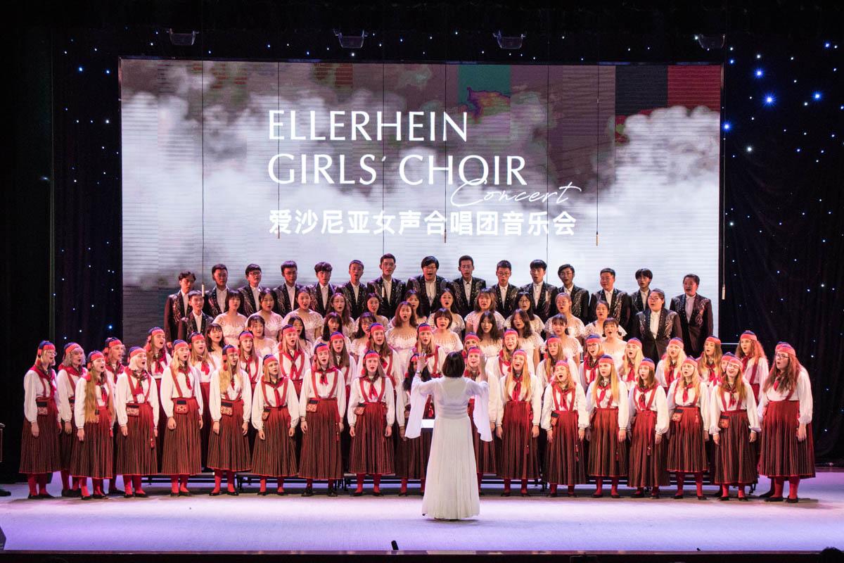 爱沙尼亚合唱团和小宇宙合唱团最后合唱《茉莉花》【学通社记者 连雨婷 摄】