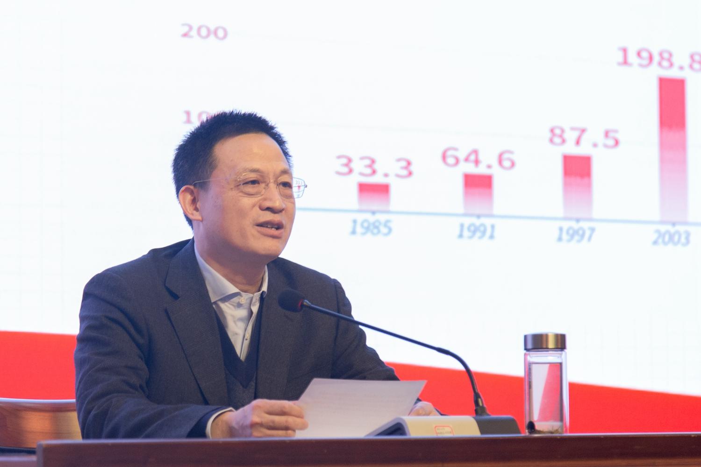 主讲人王祺扬作报告【学通社记者王宇飞摄】 (2)