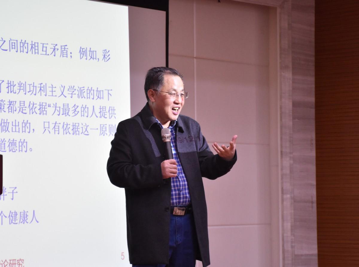 陈波老师正在授课【学通社记者 徐聿卓 摄】