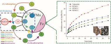 图1.天然铁锰矿氧化对As(Ⅲ)氧化和吸附表面化学机制