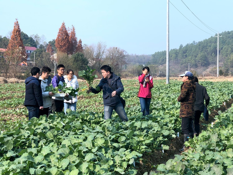 武穴梅川镇郭坦村和学生一起取样
