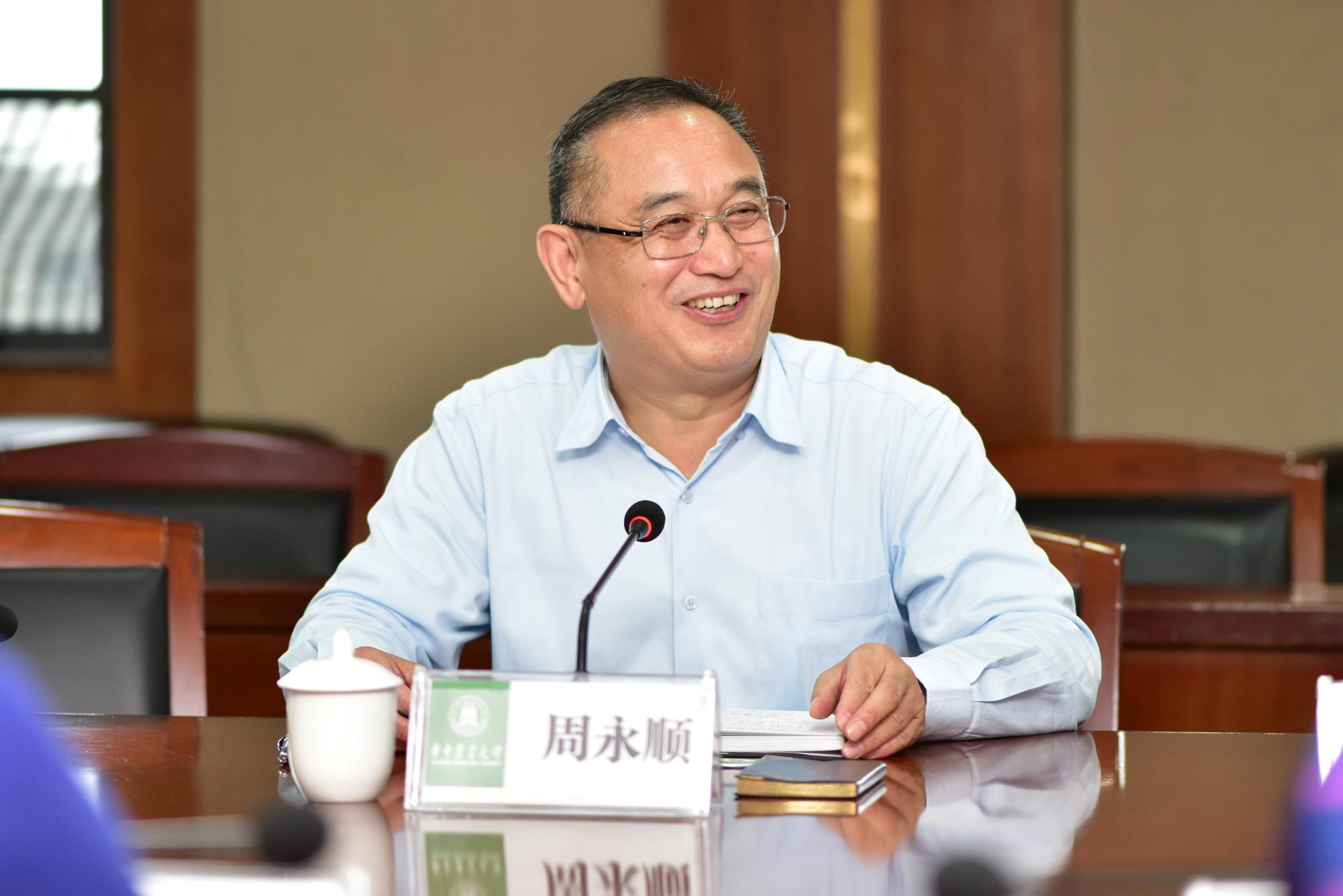周永顺校友讲话(记者 刘涛 摄)