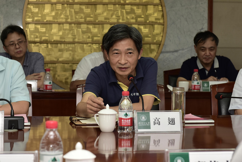 校党委书记高翅讲话(记者 刘涛 摄)