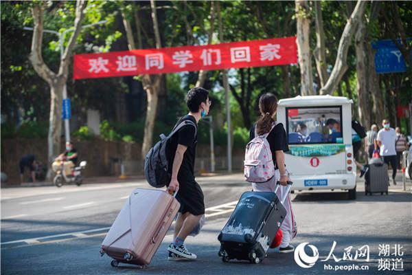 华中师范大学,学子陆续返校。受访者提供