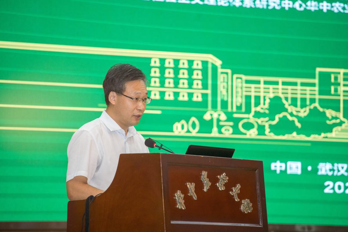 湖北省省委宣传部副部长刘爱国作讲话-2【学通社记者 刘博文 摄】