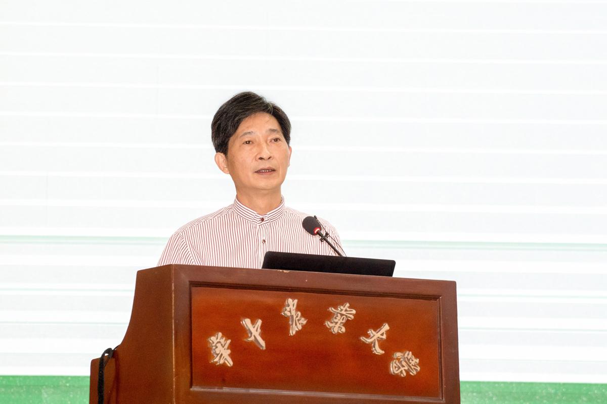 华中农业大学党委书记高翅作欢迎致辞【学通社记者 刘博文 摄】 (2)