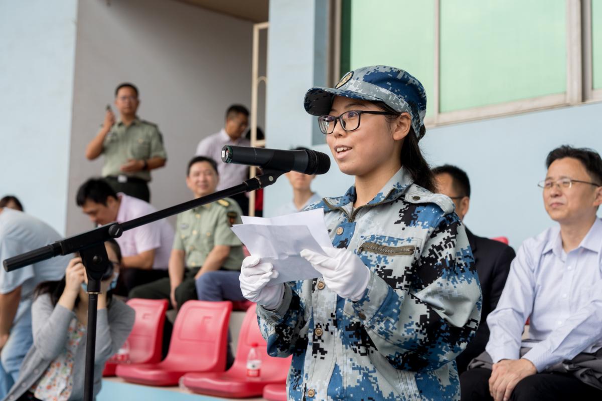 学员代表讲话(学通社记者 刘博文 摄)