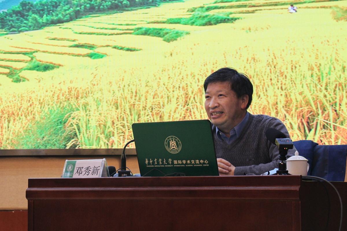 中国工程院副院长、中国工程院院士邓秀新做报告(学通社记者 张灿 摄)-5