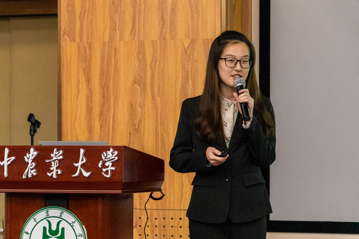 资源与环境学院冯晨讲述职业规划(学通社记者 姜虹艺 摄)