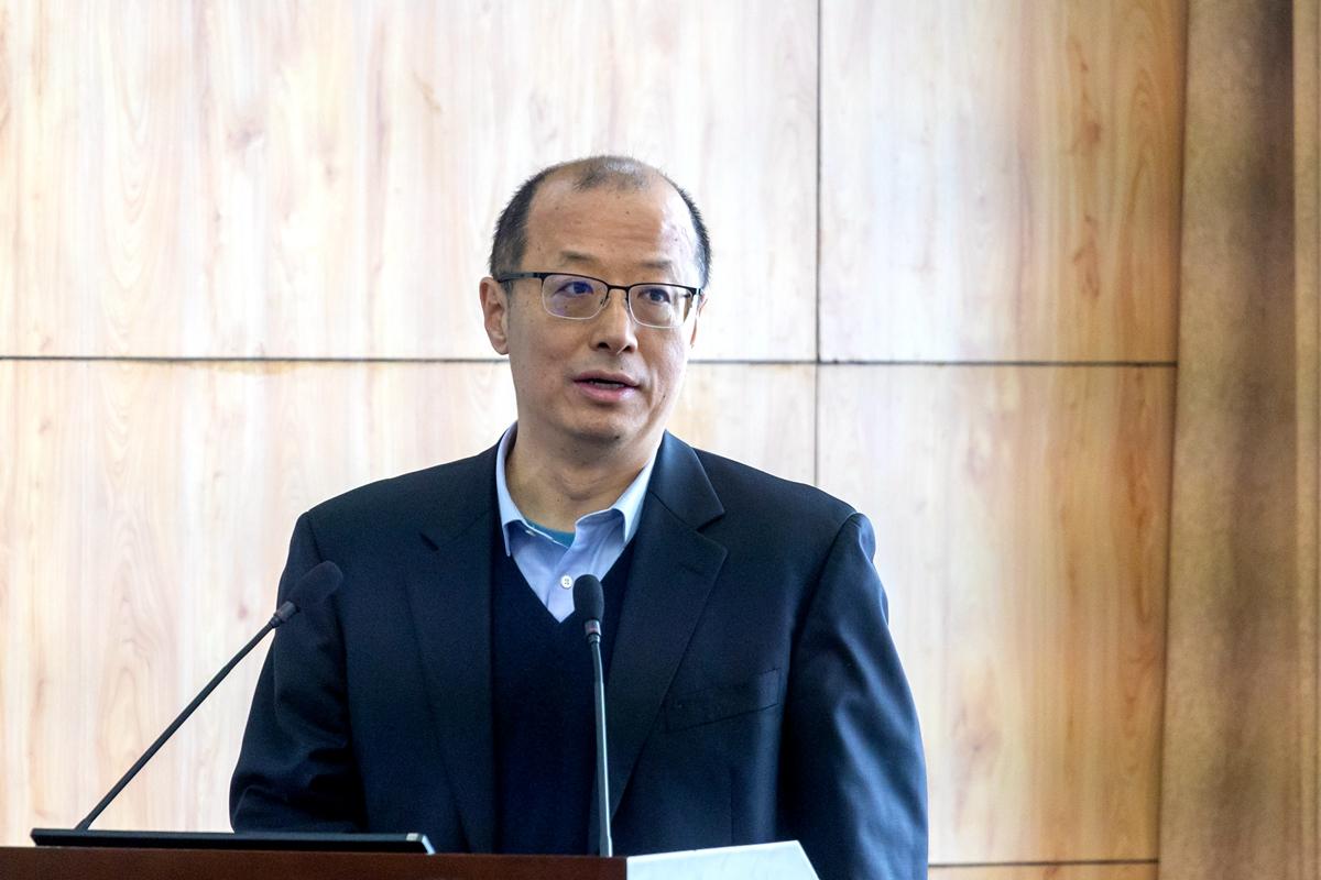 李召虎校长在座谈会上发言(学通社记者 谢焱 摄) (2)_副本