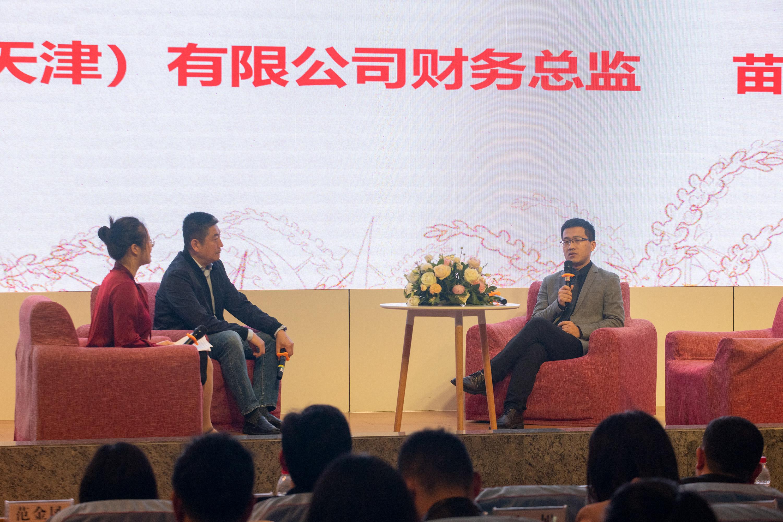 益生菌企业代表在会上分享最新的行业动态(学通社记者 李靖威 摄)