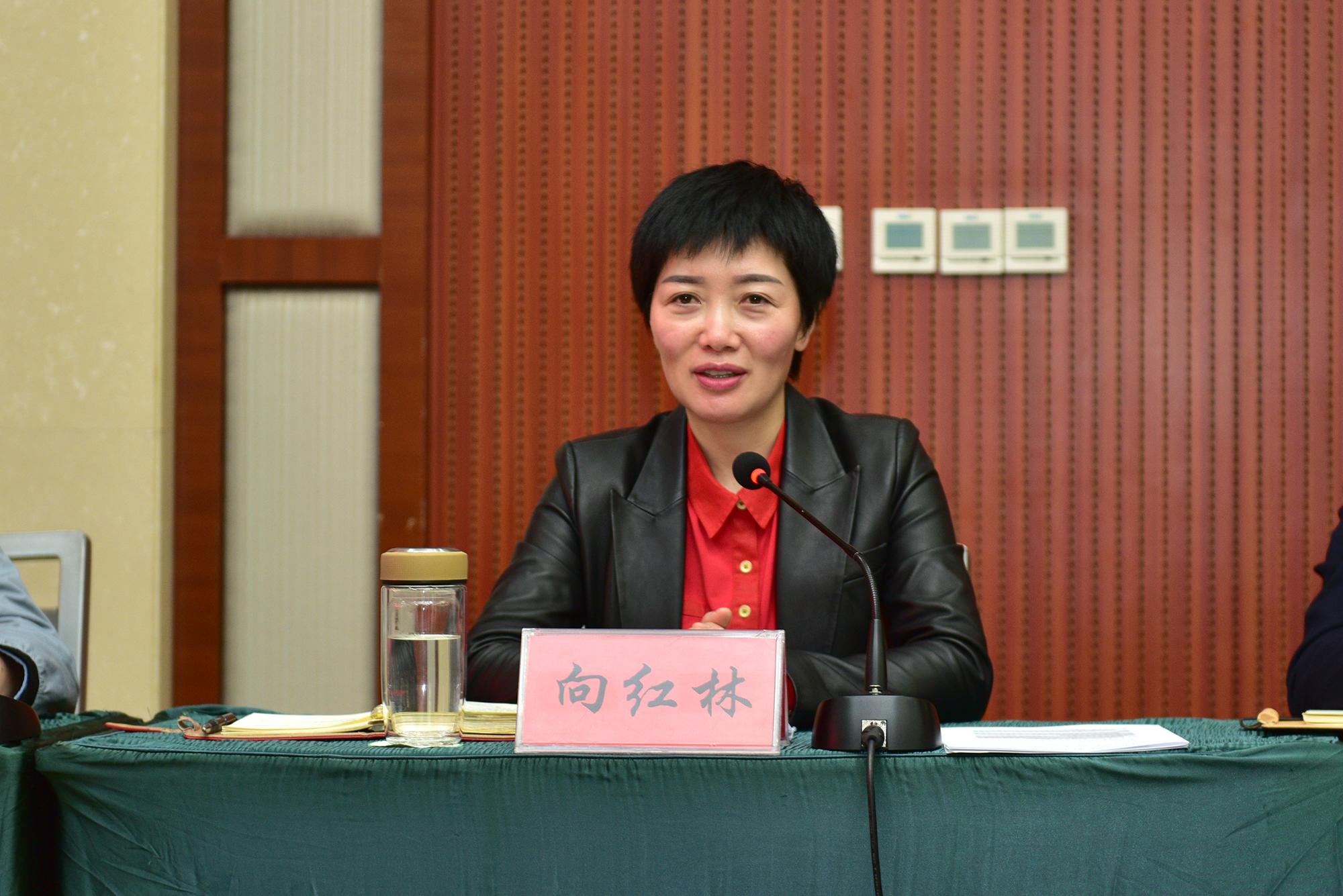 恩施州人大常委会副主任、建始县委书记向红林讲话(记者 刘涛 摄)