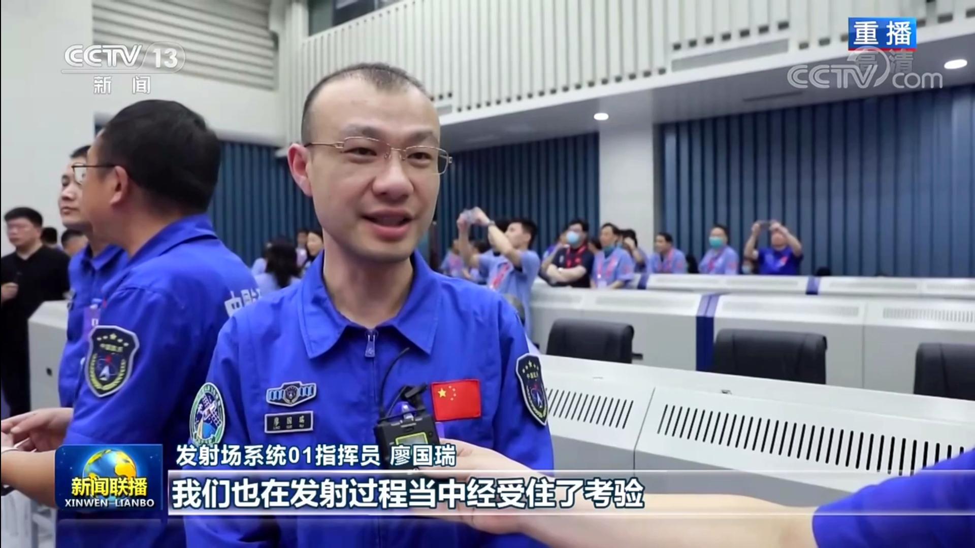 廖国瑞校友接受《新闻联播》记者采访
