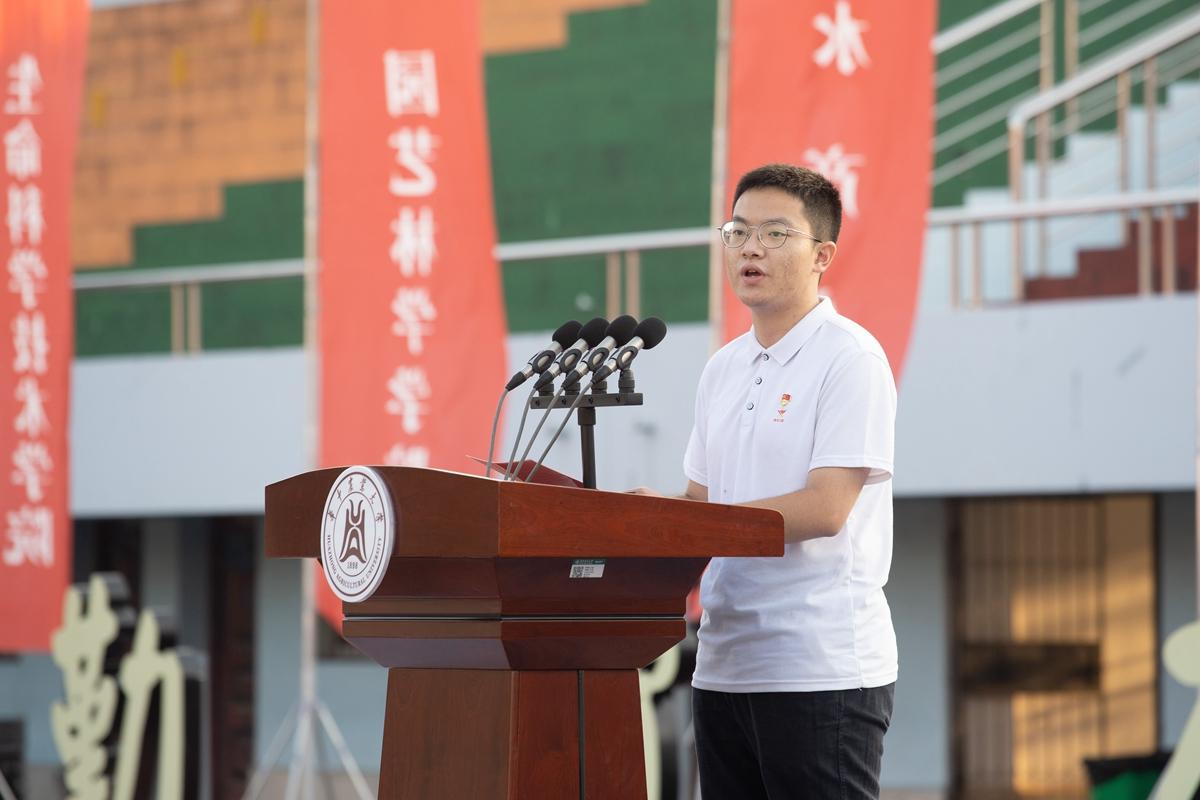 学生代表3(学通社记者 刘博文 摄)_副本