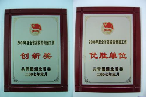 校团委荣获全省高校共青团工作优胜单位和创新