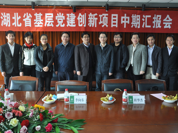 湖北省委组织部、高校工委来我校调研红色微博